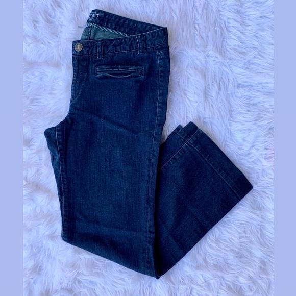 LOFT Denim - Ann Taylor LOFT denim trouser dark blue wash jeans